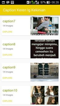 Caption Ig Keren apk screenshot