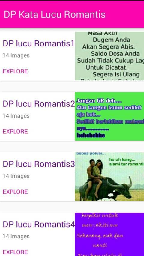 Dp Kata Lucu Romantis For Android Apk Download