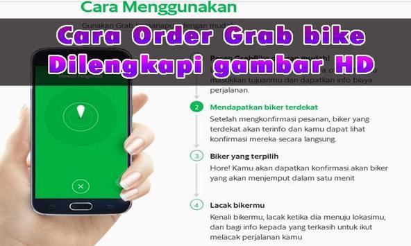 Panduan Order GRAB BIKE poster