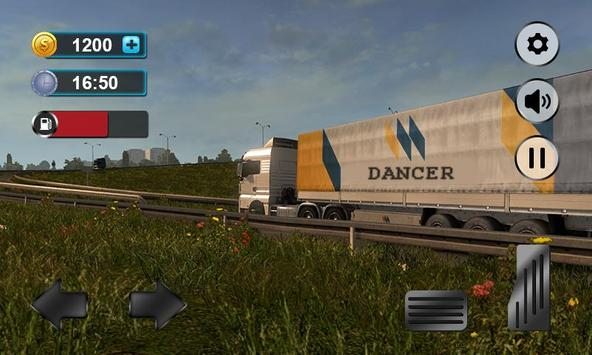 Real Truck Drving Transport Cargo Simulator 3D poster
