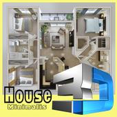 DIY 3D House Plan New icon