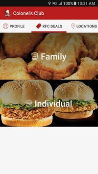 KFC Canada Colonel's Club apk screenshot