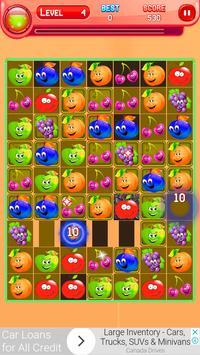 Cartoon Fruit Match 3 apk screenshot