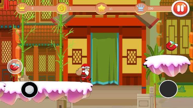 Jump And Run  Santa poster