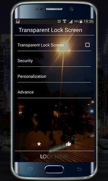 Transparent Lock Screen screenshot 3