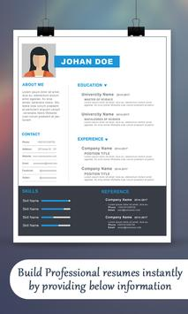 Create Professional Resume & CV screenshot 1