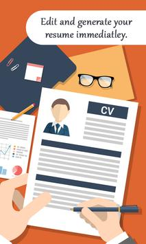 Create Professional Resume & CV apk screenshot