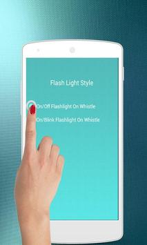 Whistle to Flash Torch Light screenshot 3