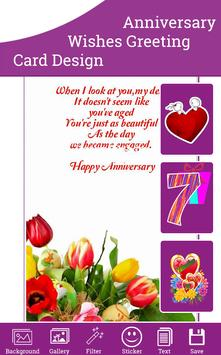 Anniversary Wishes Card poster