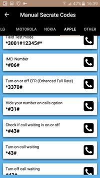 Mobile Secret Codes screenshot 9