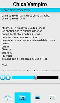 Chica Vampiro Full Songs apk screenshot