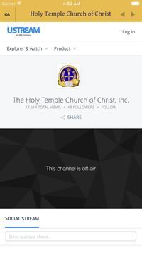 Holy Temple Church of Christ apk screenshot