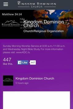 KDC Kingdom Dominion Church apk screenshot