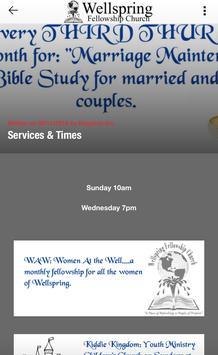 Wellspring Fellowship Church apk screenshot