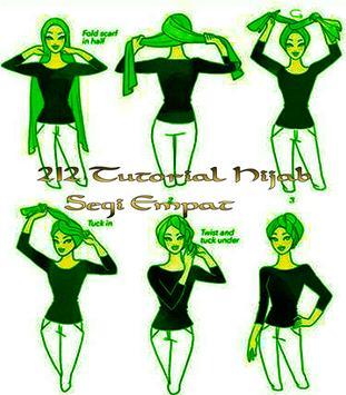 212 Tutorial Hijab Segi Empat apk screenshot