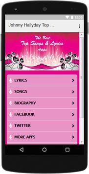 The Best Music & Lyrics Johnny Hallyday apk screenshot