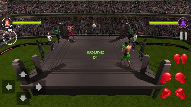 Death Boxing Ring 3D (HD) real punch screenshot 1