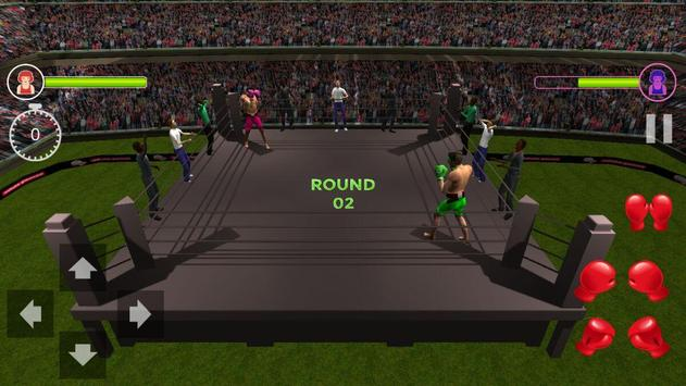 Death Boxing Ring 3D (HD) real punch screenshot 2