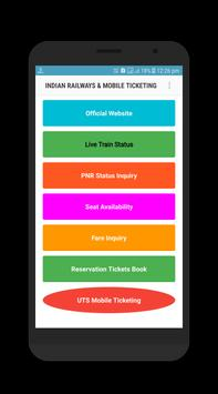 Indian Railway Ticketing Mobile UTS poster