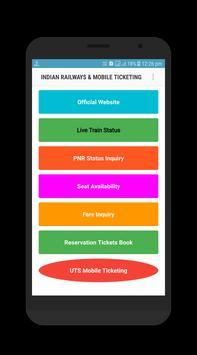 Indian Railway Ticketing Mobile UTS screenshot 1