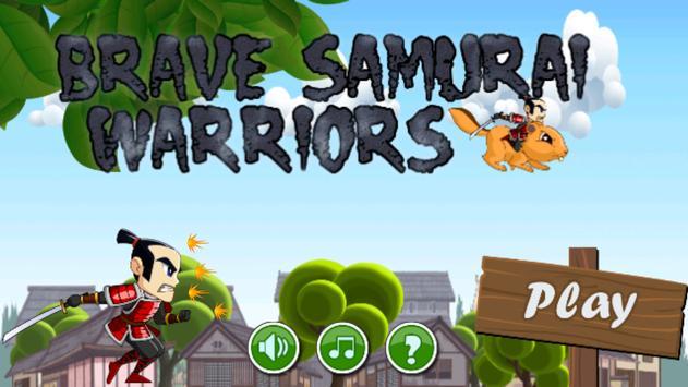 Brave Samurai Warriors Run poster