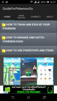 Guide For Pokemon Go 2016 poster