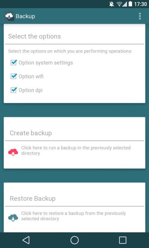 how to create backup apk