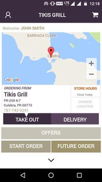 Tikis Grill screenshot 1