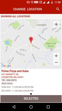 Prime Pizza and Subs apk screenshot