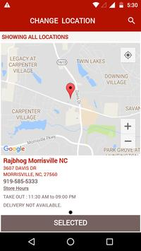 Rajbhog Morrisville NC apk screenshot