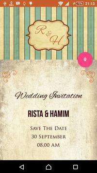Rista & Hamim Wedding poster