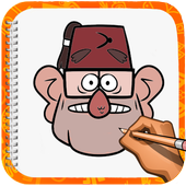 how to draw Grunkle Stan icon