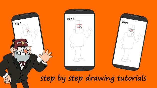 how to draw Grunkle Stan poster