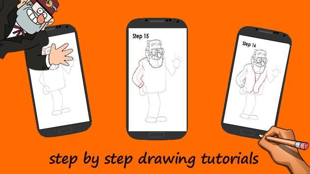 how to draw Grunkle Stan apk screenshot