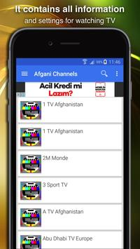 TV Afghanistan Channels Data poster