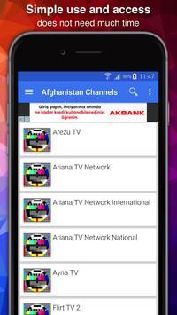 TV Afghanistan Channels Data screenshot 1