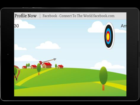 Bow and Arrow archery of tiny shooting target game screenshot 4