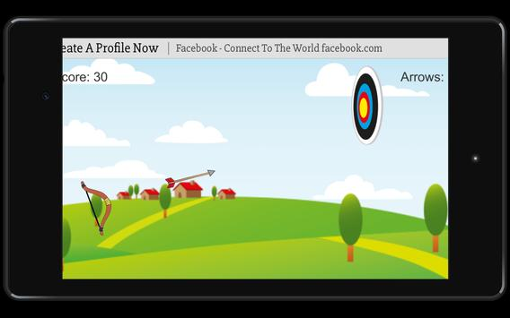 Bow and Arrow archery of tiny shooting target game screenshot 7