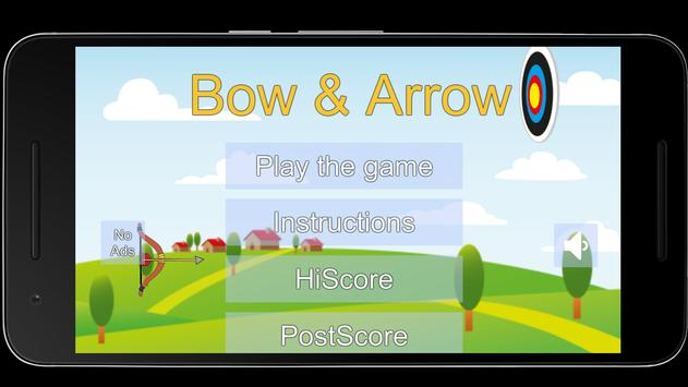 Bow and Arrow archery of tiny shooting target game poster