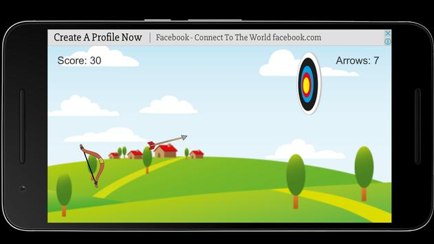 Bow and Arrow archery of tiny shooting target game screenshot 1