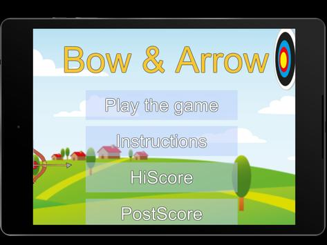 Bow and Arrow archery of tiny shooting target game screenshot 3