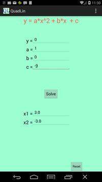 QuadLin Equation Solver apk screenshot