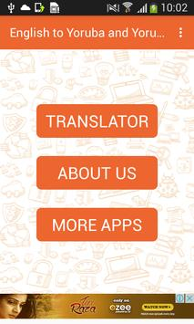 English to Yoruba and Yoruba to English Translator poster