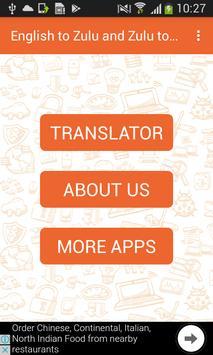 English to Zulu and Zulu to English Translator poster