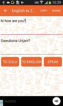 English to Zulu and Zulu to English Translator screenshot 1