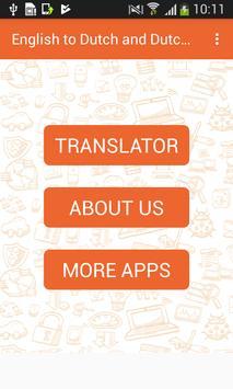English to Dutch and Dutch to English Translator poster