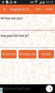 English to Dutch and Dutch to English Translator screenshot 1
