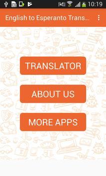 English to Esperanto Translator and Vice Versa poster