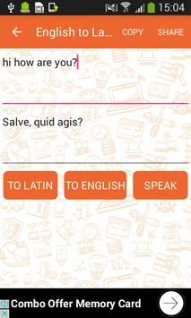 English to Latin and Latin to English Translator screenshot 3