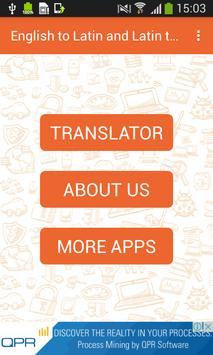 English to Latin and Latin to English Translator poster